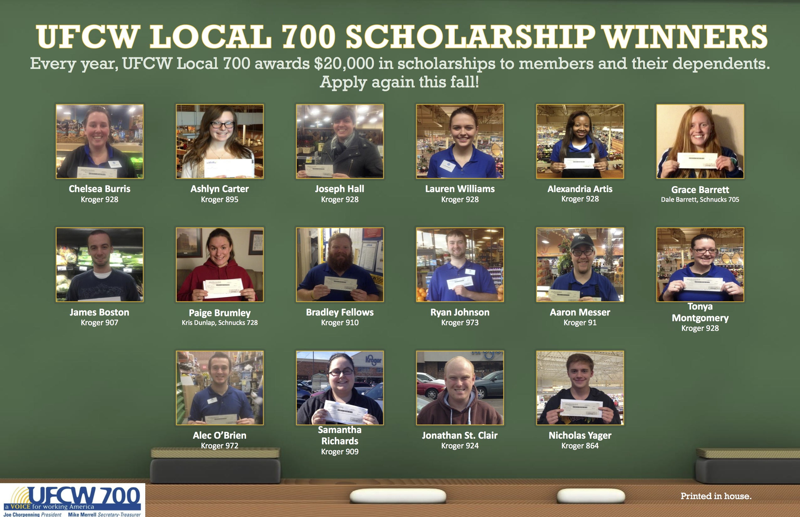 SCHOLARSHIP WINNERS POSTER