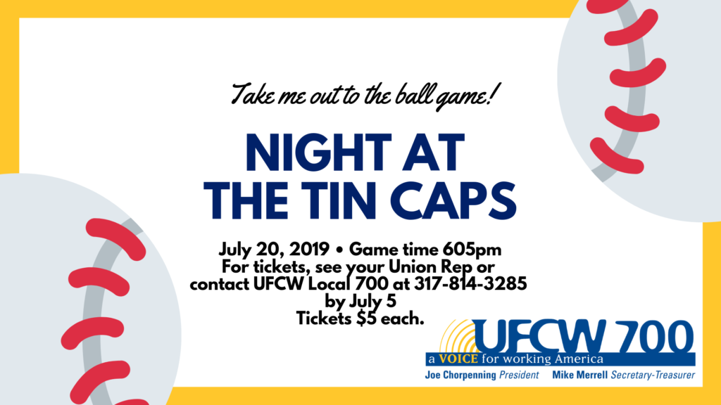 Join UFCW Local 700 for a Night at Ft. Wayne Tin Caps!