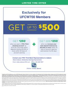 New! Member Benefit Program from 5/3 Bank